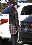 Vanessa Hudgens Street Style - Stopping by a Coffee Bean & Tea Leaf in Los Angeles