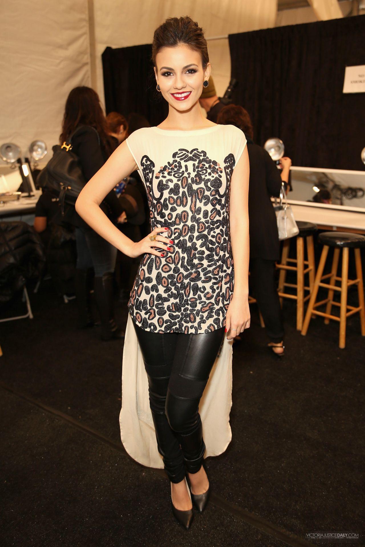 Victoria Justice Mara Hoffman Fashion Show In New York