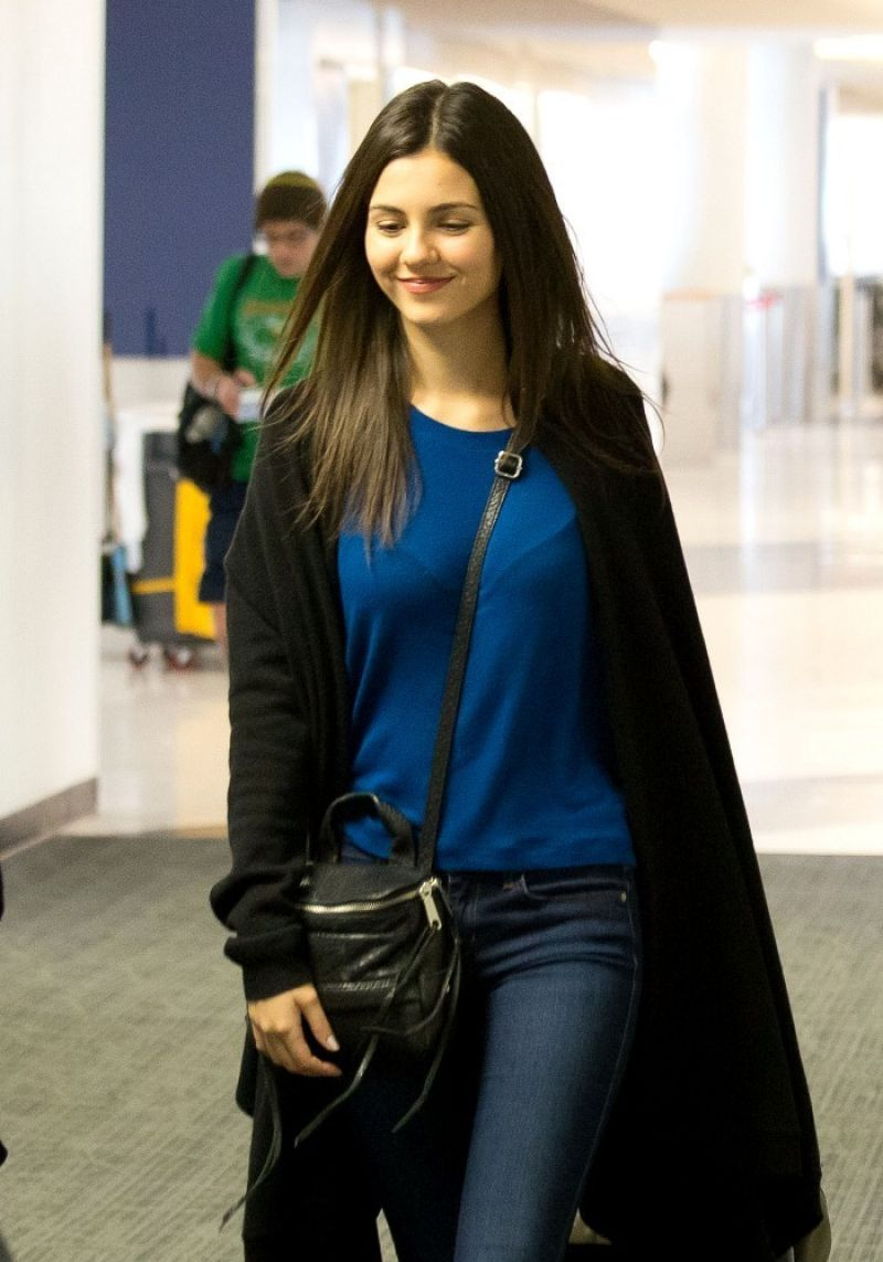Victoria Justice Street Style Lax Airport February 2014