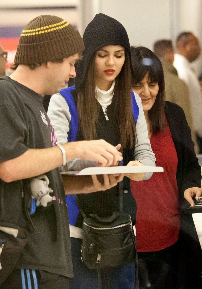Victoria Justice Street Style - LAX Airport in Los Angeles - February 2014