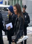 Victoria Justice - Wind Blows Skirt Up Leaving Rebecca Minkoff Fashion Show - February 2014