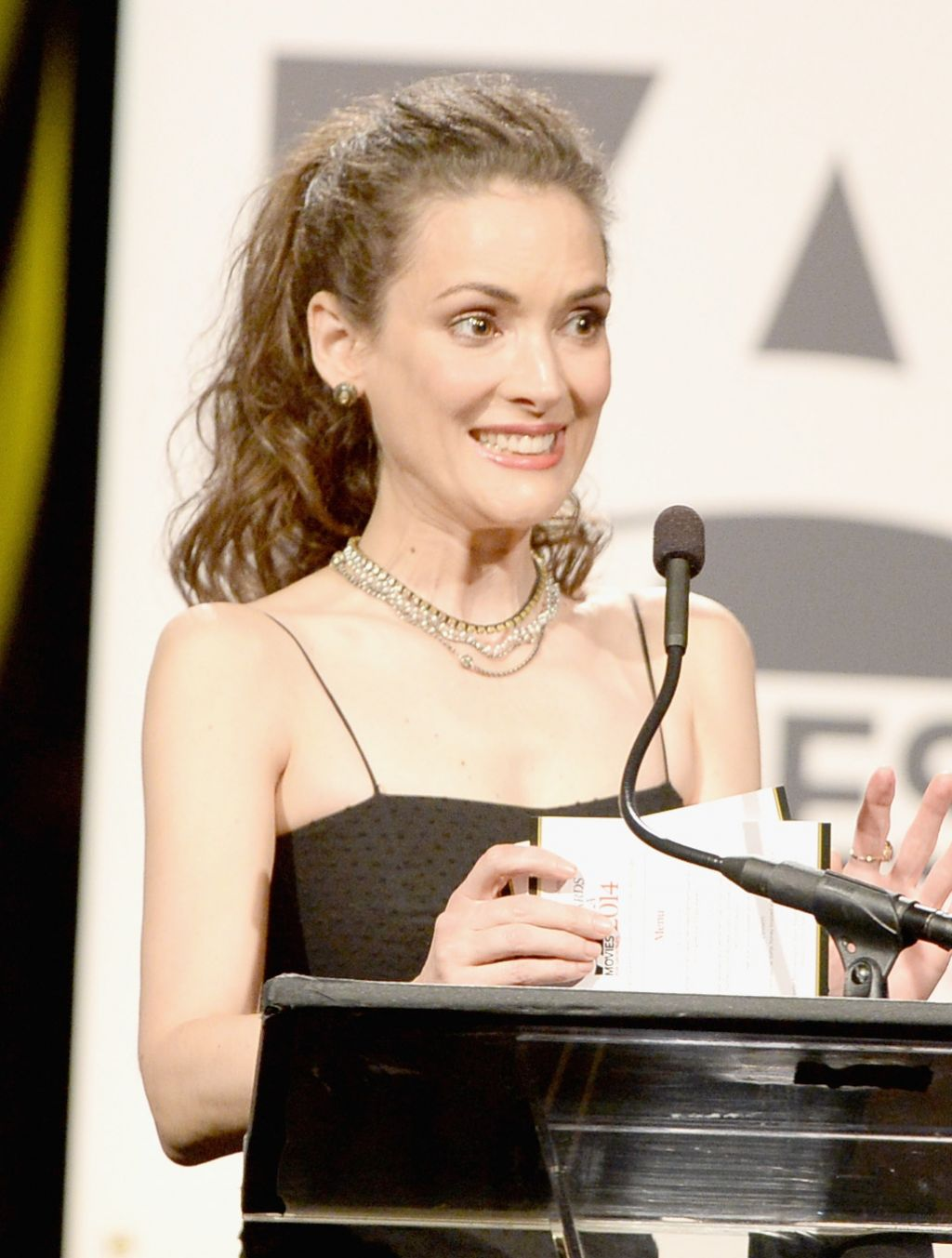 Winona Ryder Aarp S Movies For Grownups Gala February 2014