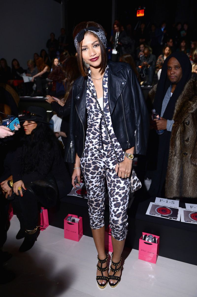Zendaya Coleman At Betsey Johnson Fashion Show In New York