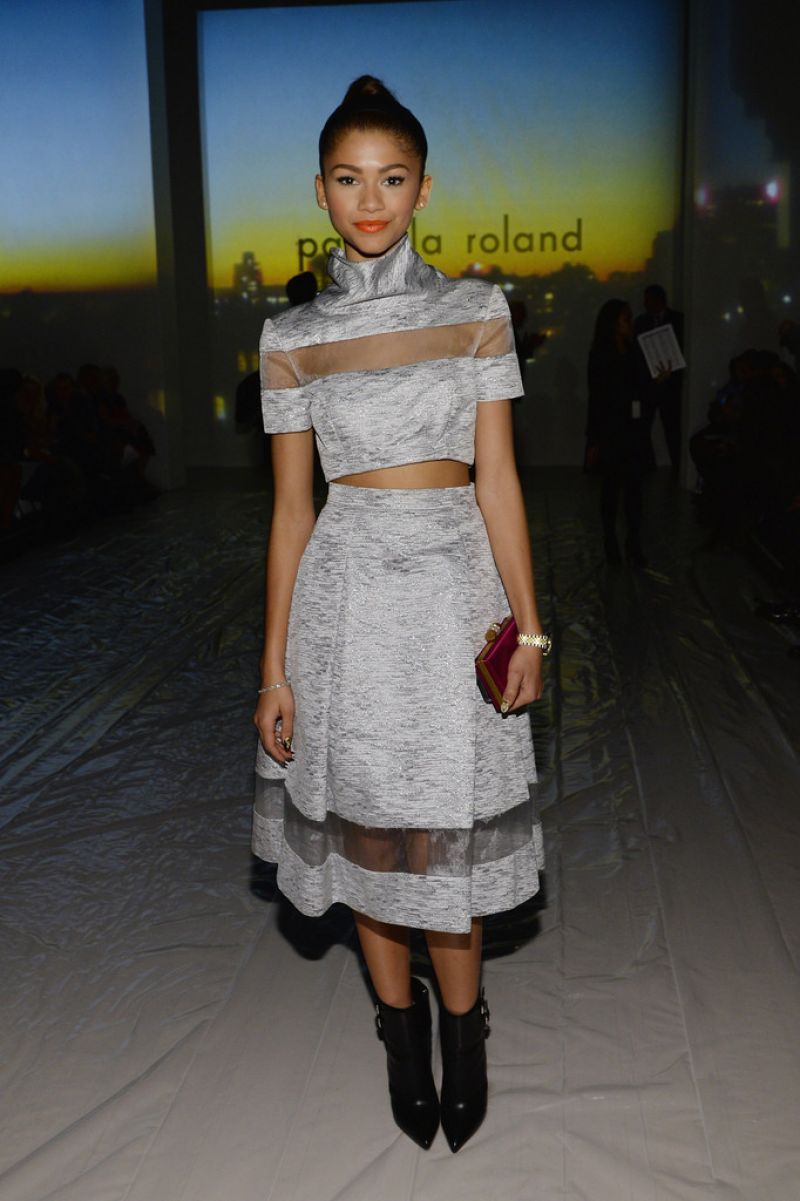 Zendaya Coleman Pamella Roland Fashion Show In New York City February 2014