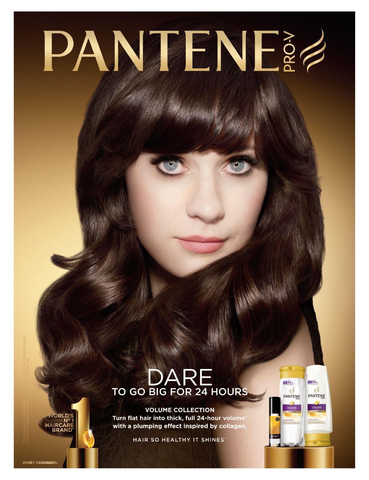 Zooey Deschanel - Pantene Pro-V Ad Campaign 2013