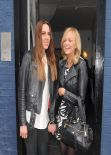 Mel C and Emma Bunton - Arriving at a Studio to Record England 2014 FIFA World Cup Song for Sport Relief