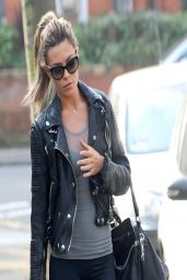 Abbey Clancy in Spandex - Out in Finchley North London