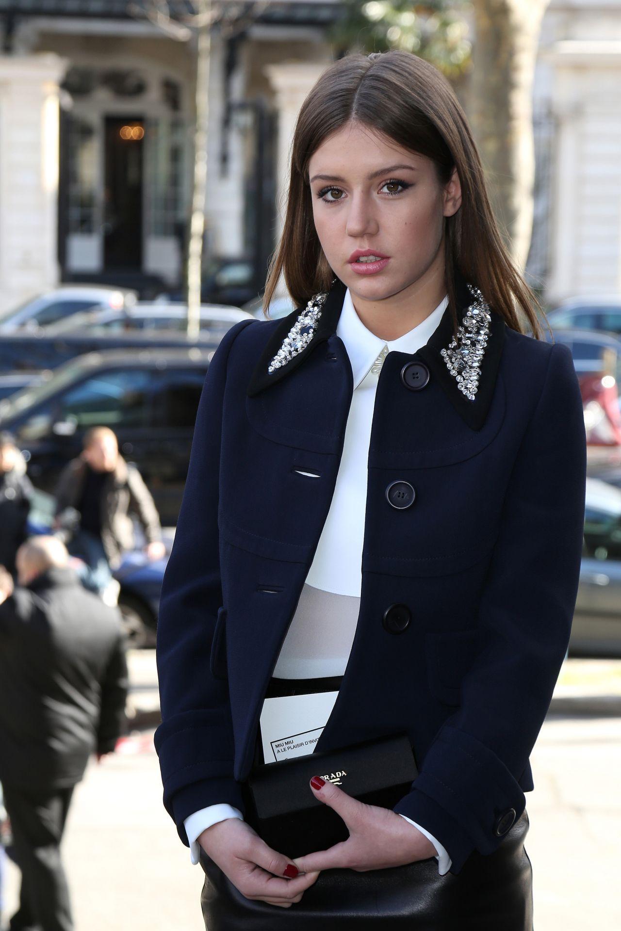 Adèle Exarchopoulos in Paris - Miu Miu F/W Fashion Show, March 2014