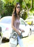 Alessandra Ambrosio Casual Street Style - Out in Beverly Hills, March 2014