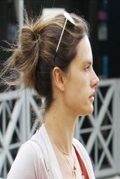 Alessandra Ambrosio - Leaves Yoga Classes in Brentwood - March 2014