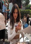 Alessandra Ambrosio - On the set of
