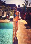 Alessandra Sorcinelli in Blue Bikini - Instagram, March 2014
