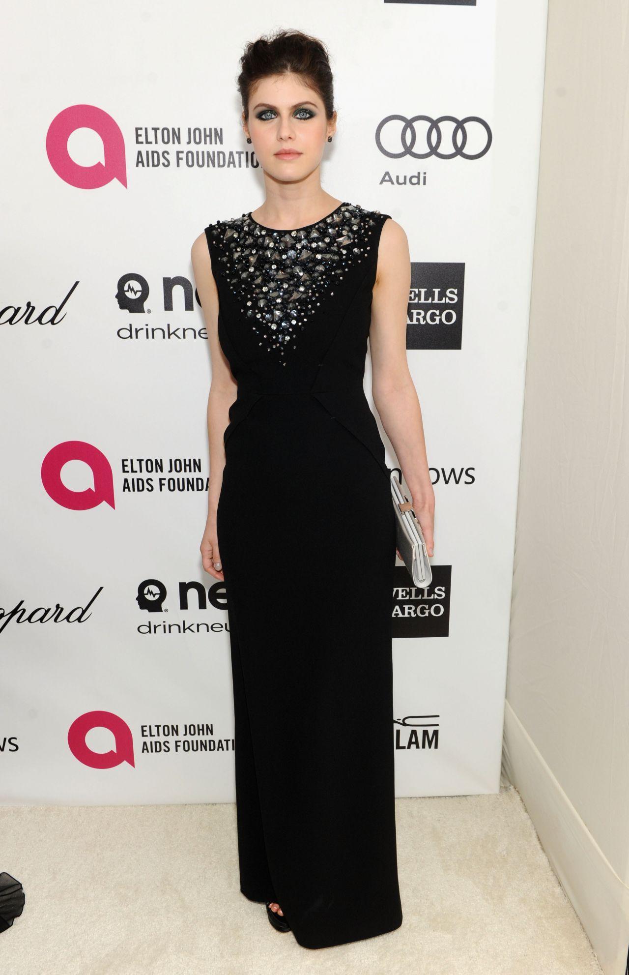 Alexandra Daddario -2014 Elton John AIDS Foundation Oscar Party