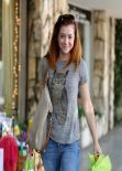 Alyson Hannigan - Shops for Princess Dresses For Her Daughters - March 2014