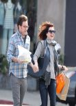 Alyson Hannigan With Her New Hairstyle - March 2014