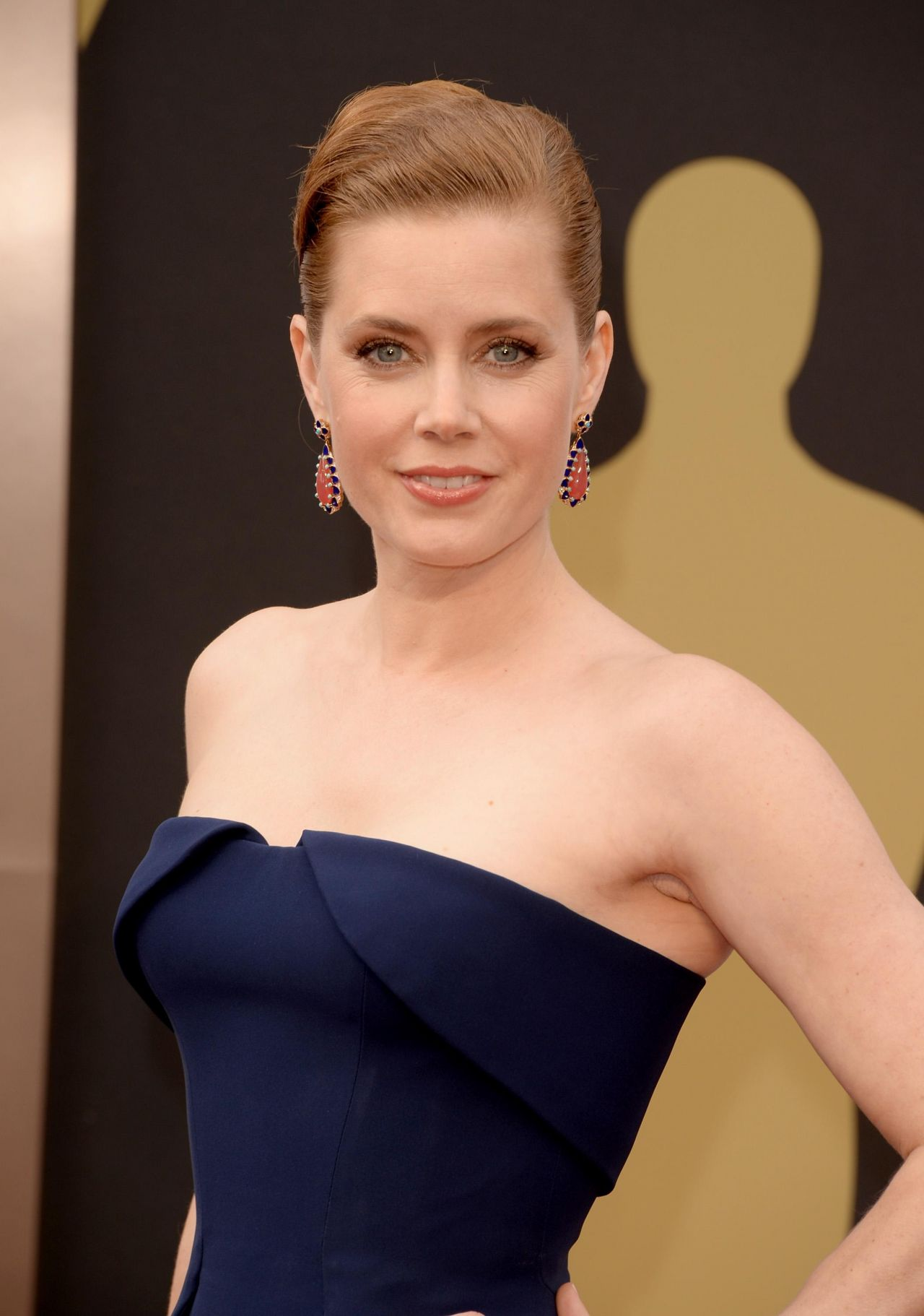 Amy Adams in Gucci with Tiffany & Co. jewels at 2014 Oscars