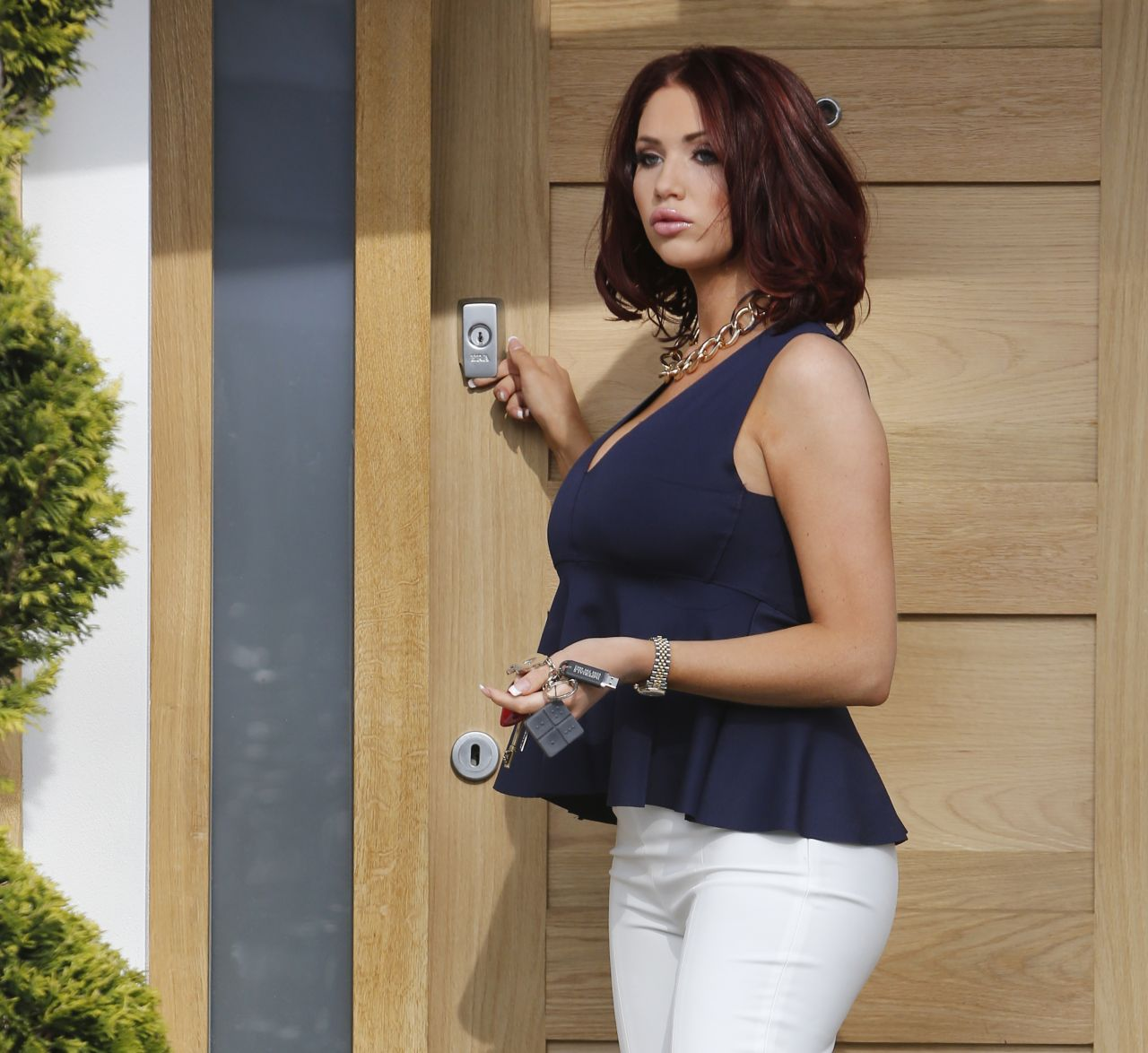 Amy Childs Casual Street Style - Out in Essex, March 2014