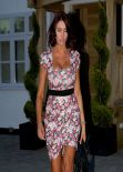 Amy Childs in Flowery Dress - March 2014