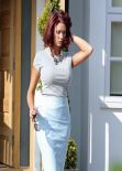 Amy Childs - Leaving Home to fly off on a Fashion Shoot -  March 2014