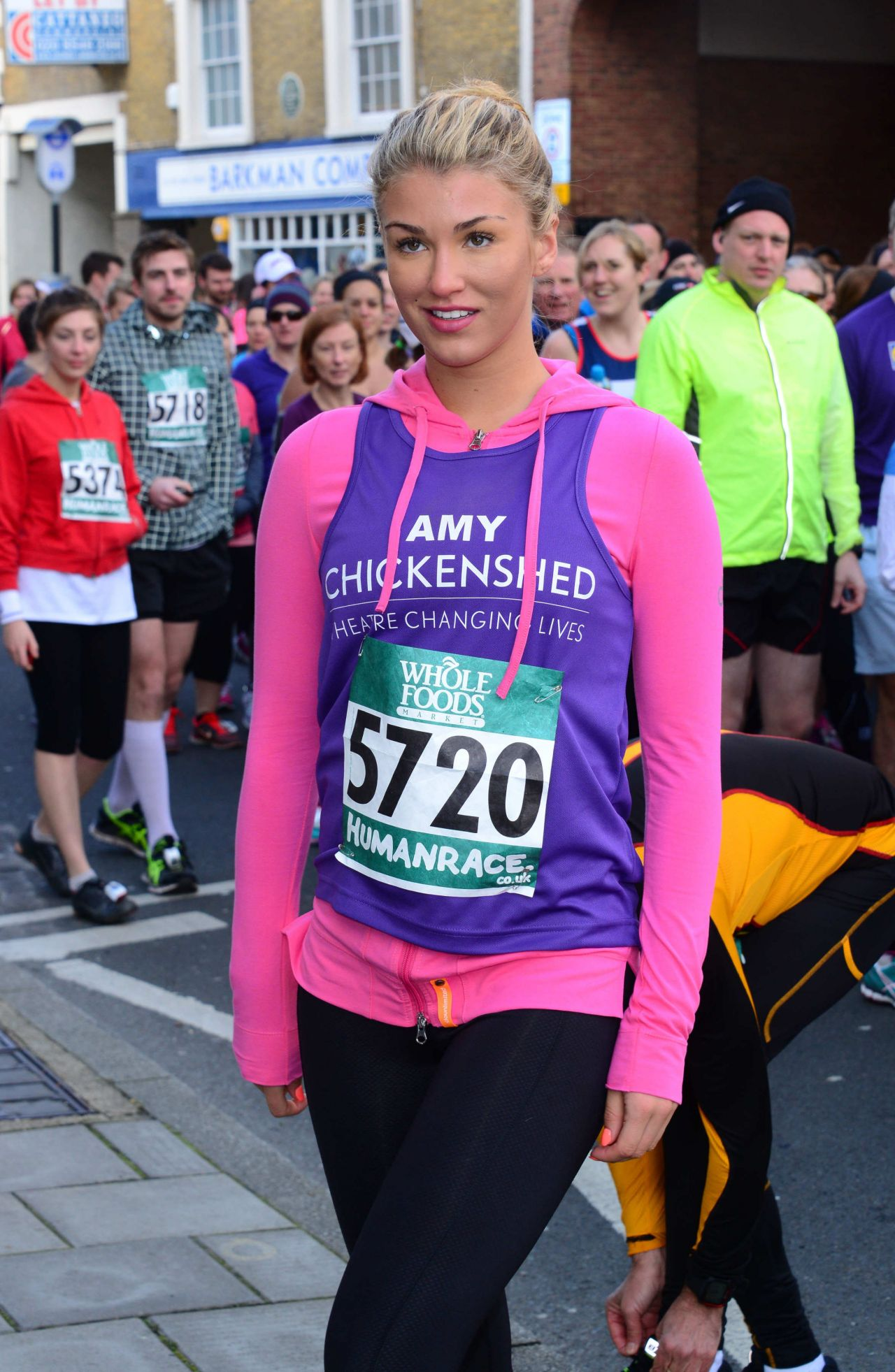 Amy Willerton in Spandex - Human Race Pace Series run in London