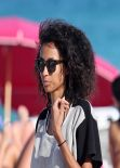 Anais Mali on the Beach With a Few Friends in Miami - March 2014