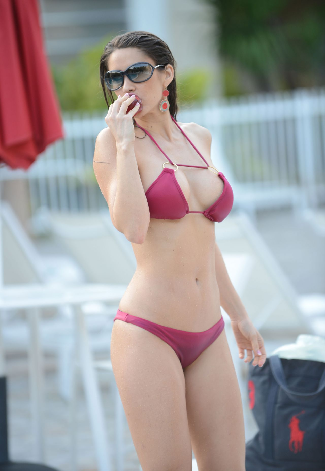 Anais Zanotti Bikini Candids - at Poolside in Miami, March 2014