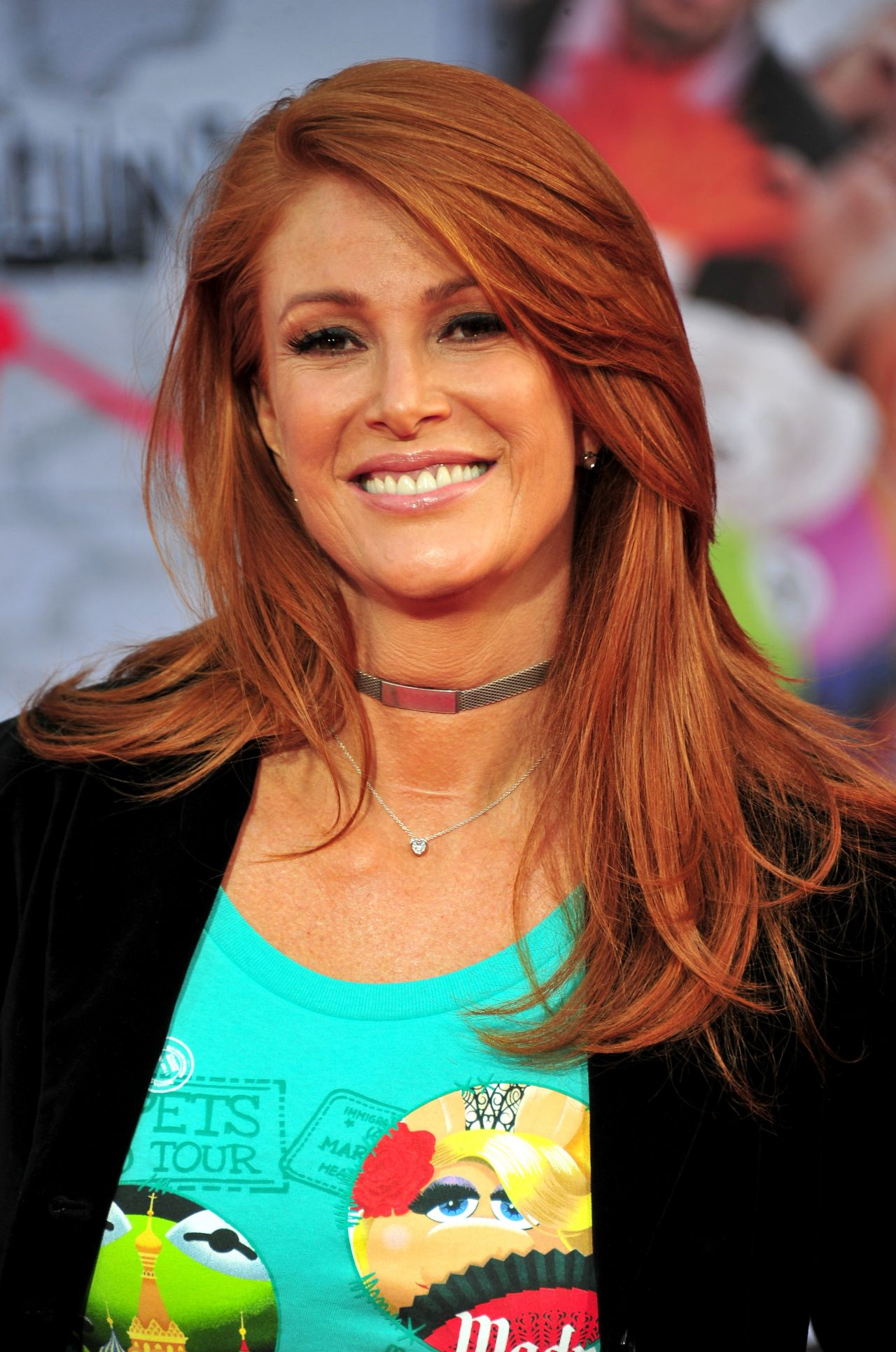 Angie Everhart Muppets Most Wanted Premioere In Hollywood