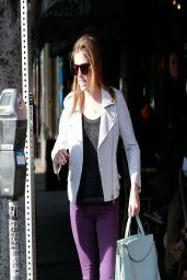 Anna Kendrick Casual Style - Leaving a Restaurant in Los Angeles - March 2014