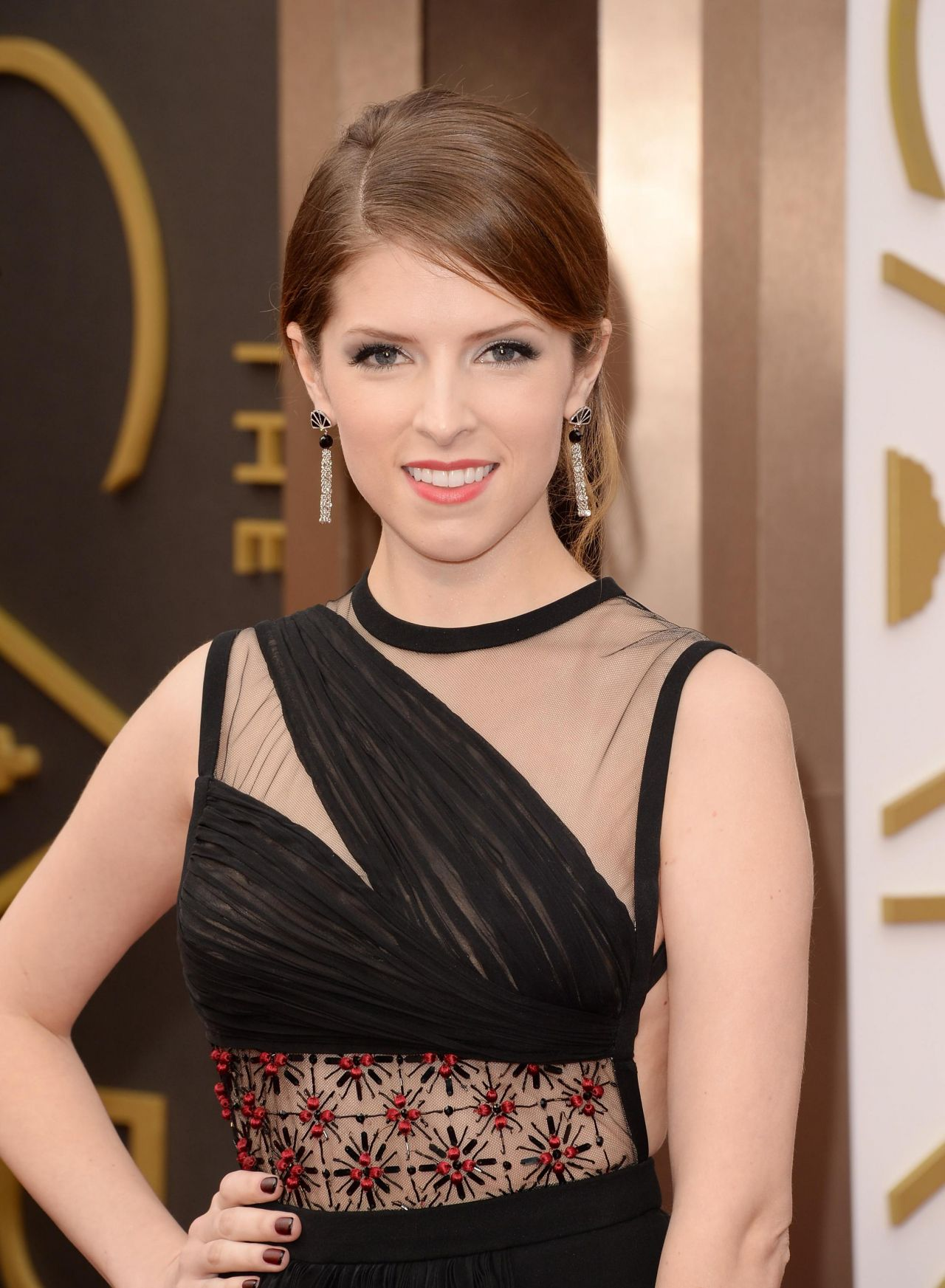 Anna Kendrick Wearing J.Mendel Dress at 2014 OSCARS