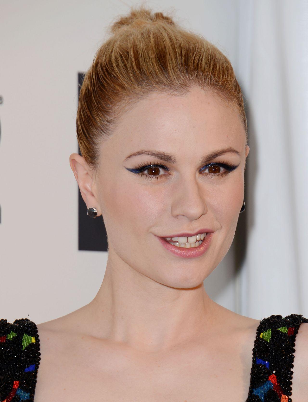 Anna Paquin Wearing Alexander McQueen Gown – 2014 Elton John Oscar ... Anna Paquin