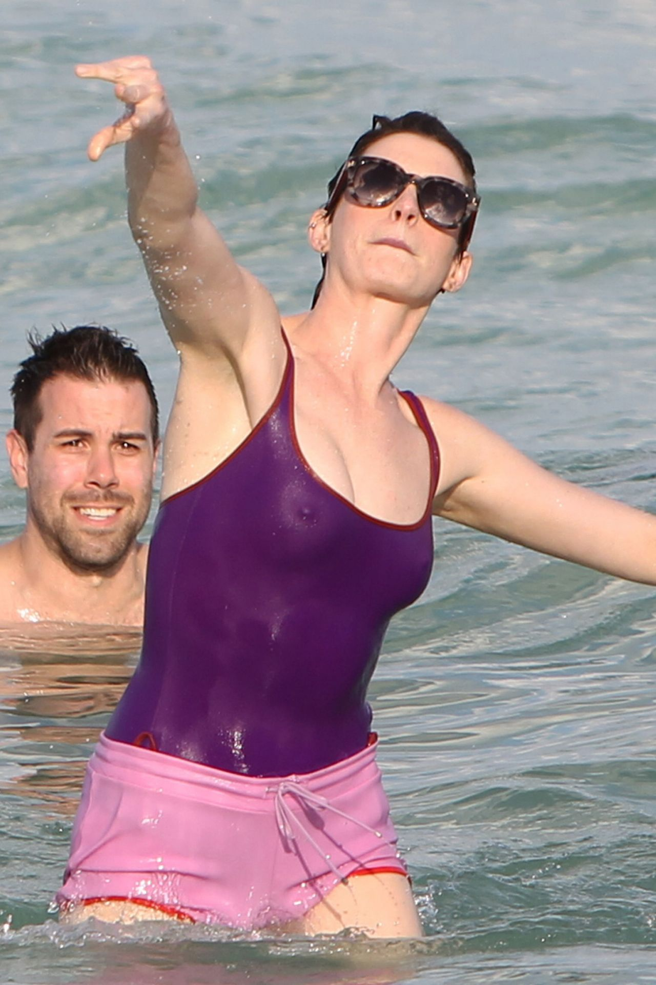 anne hathaway nude on beach