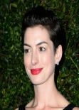 Anne Hathaway in Chanel Mini Dress – Chanel And Charles Finch Pre-Oscar 2014 Dinner