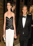 Anne Hathaway in Viktor & Rolf Strapless Gown - 2014 Vanity Fair Oscar Party