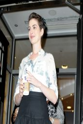Anne Hathaway Legs - Outside the BBC Studios in London - March 2014