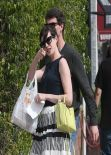 Anne Hathaway Street Style - at Cheebo in Los Angeles - March 2014