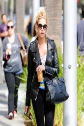 Ashley Benson in Leggings - Coffee Bean & Tea Leaf in Beverly Hills