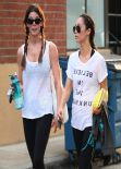 Ashley Greene and Cara Santana Leaving a Gym in Studio City, March 2014