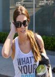 Ashley Greene in Blue Tights - West Hollywood, March 2014