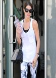 Ashley Greene in Hot Leggings - Leaving the Gym in West Hollywood - March 2014