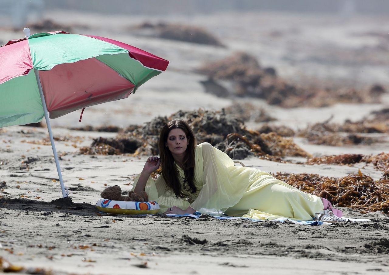 Ashley Greene In One Piece Bathing Suit The Shangri La
