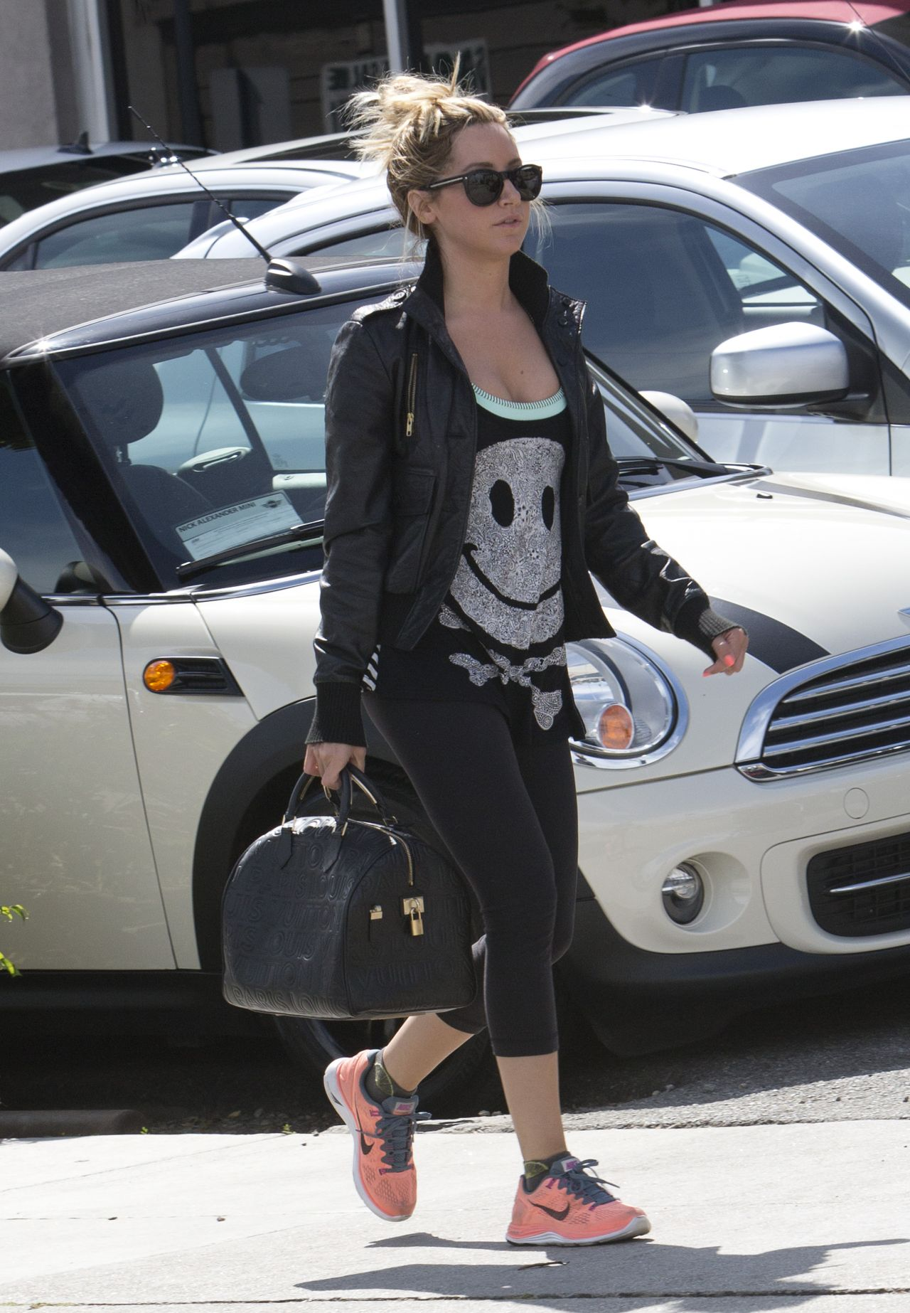 Ashley Tisdale Street Style - Out in West Hollywood, March 2014