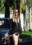 Ashley Tisdale Wears Tiny Shorts - Out in LA, March 2014