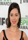 Aubrey Plaza Wearing Preen by Thornton Bregazzi - 2014 Film Independent Spirit Awards