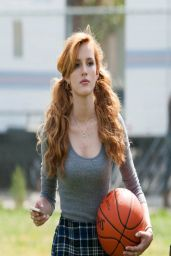 Bella Thorne Plays Basketball - Taking a Break on the Set of