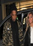 Beyonce and Jay Z Night out Style - Leaving the Arts Club in London