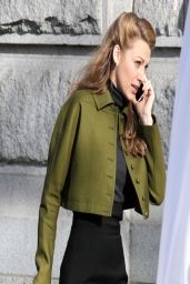 Blake Lively - On the Set of Adaline in Vancouver - March 2014