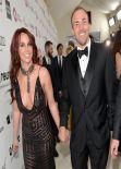 Britney Spears Wearing Michael Costello Dress – 2014 Elton John AIDS Foundation Oscar Party