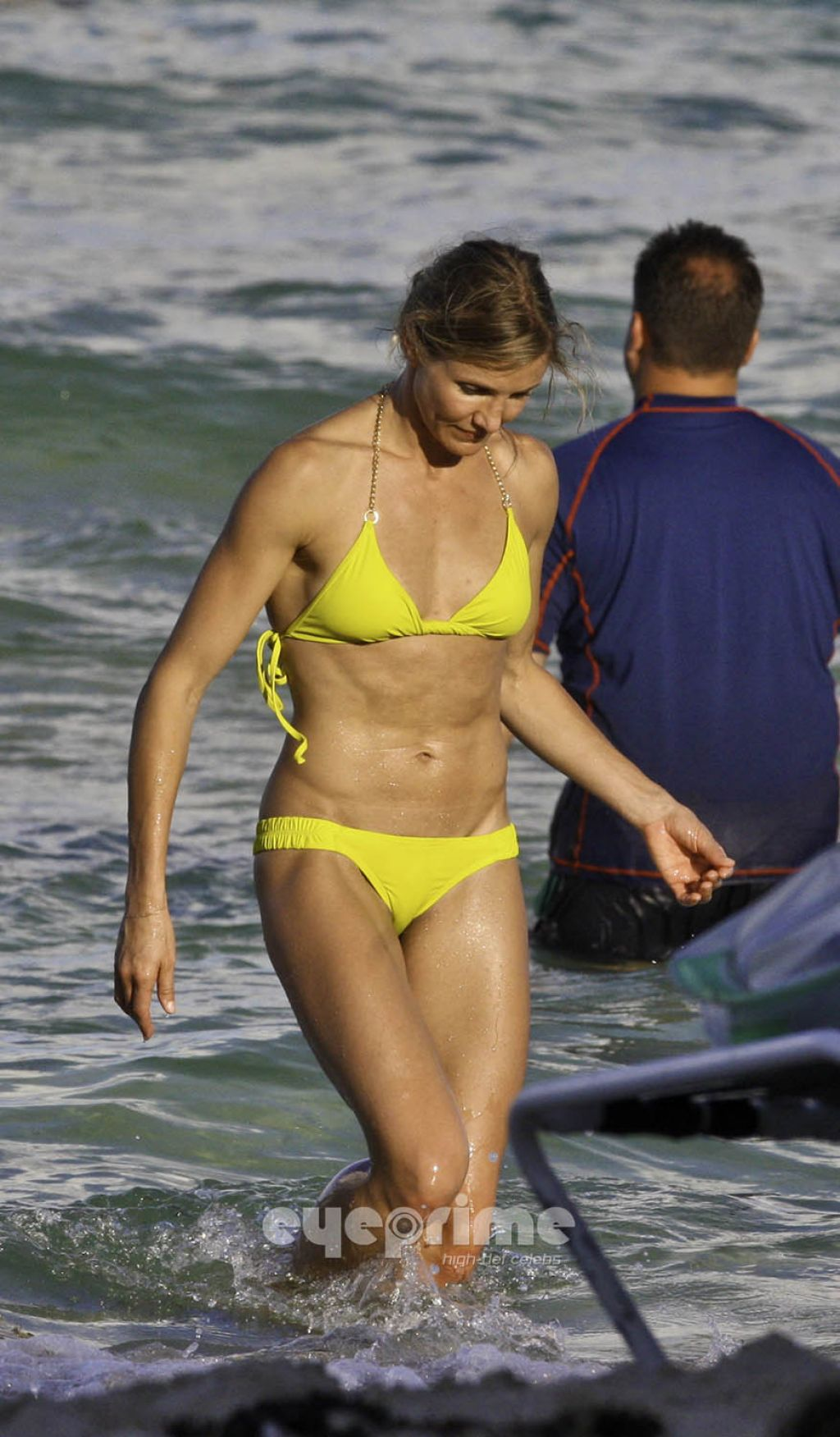 Cameron Diaz in Yellow Bikini - South Beach (July 2011)