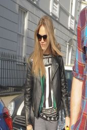 Cara Delevingne Street Style - Out in London, March 2014