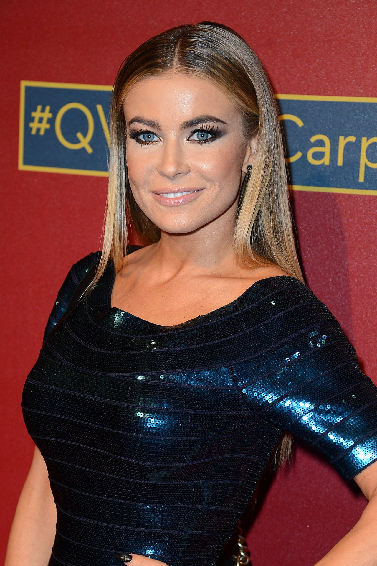 Carmen Electra in Herve Leger Mini Dress – QVC 5th Annual Red Carpet Style Event